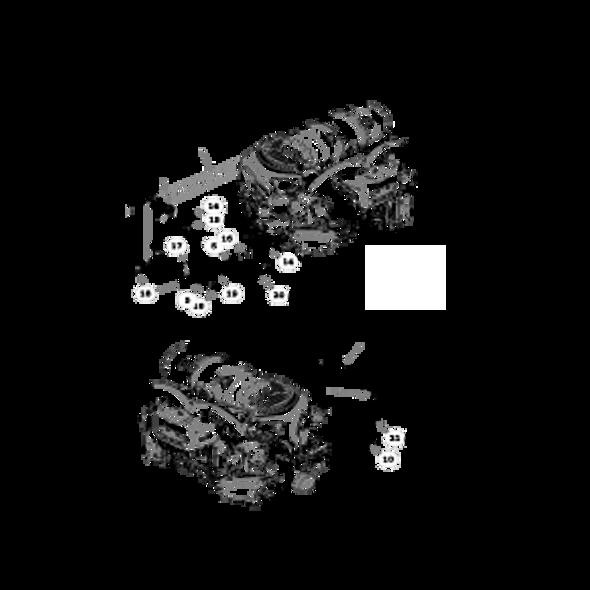 Parts lookup for HUSTLER SUPER Z 936930 - Engine Kohler ECV880 (2645)