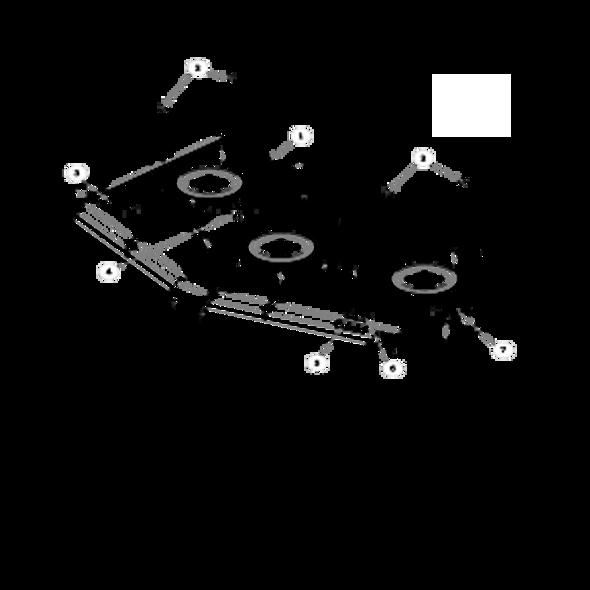 Parts lookup for HUSTLER SUPER Z HD 937003 - Side Discharge Service Deck (2699)