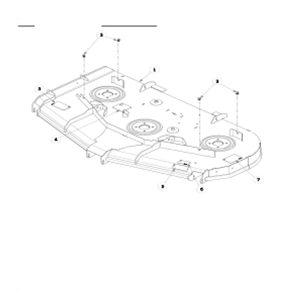 Parts lookup for HUSTLER SUPER Z HD 937011 - Side Discharge Service Deck (2711)