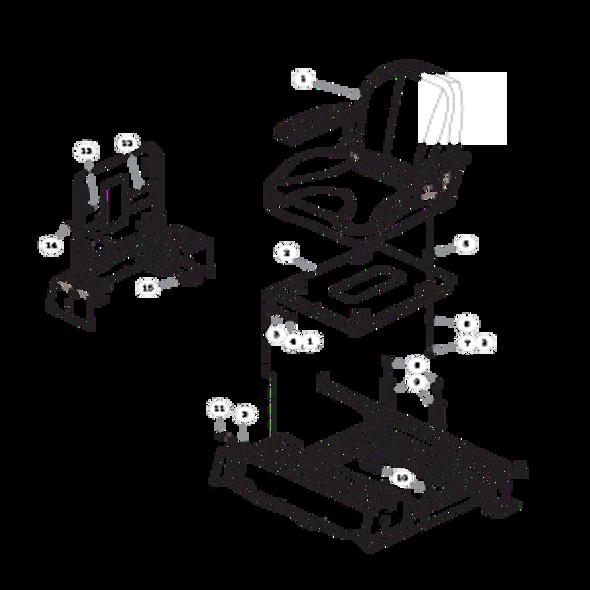 Parts lookup for HUSTLER RAPTOR 937748 - Seat with Armrests Two-Tone
