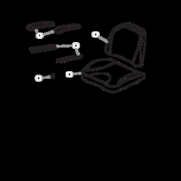 Parts lookup for HUSTLER RAPTOR 937755 - Seat Service Parts with Armrests Solid