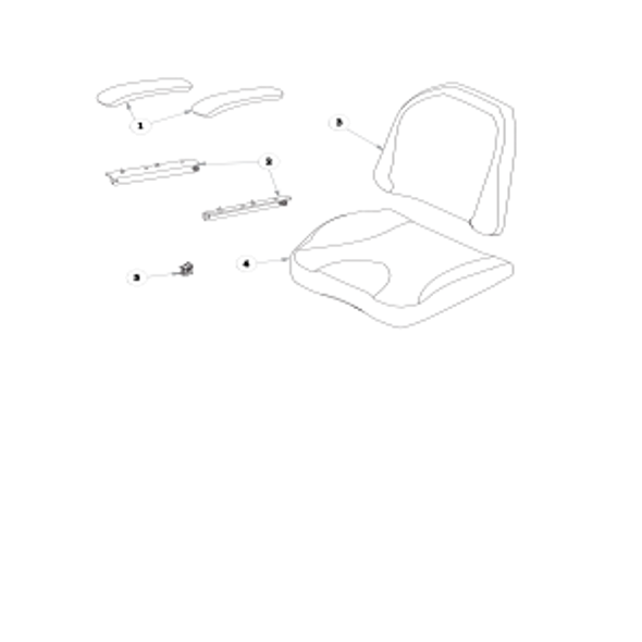 Parts lookup for HUSTLER RAPTOR 937854 - Seat Service Parts with Armrests Solid