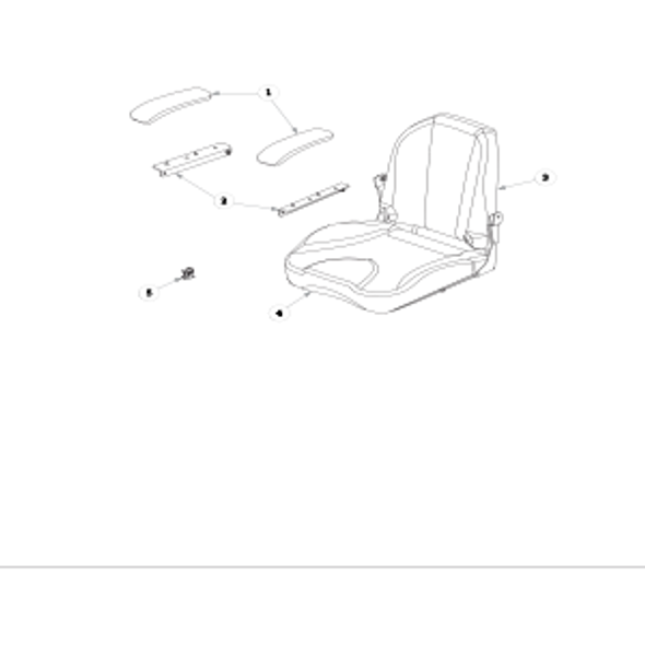 Parts lookup for HUSTLER RAPTOR 937854 - Seat Service Parts with Armrests Two-Tone