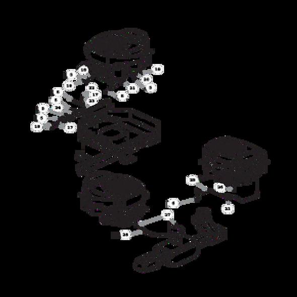 Parts lookup for HUSTLER RAPTOR 938159 - Engine Kohler KT725 and KT735 (2853)