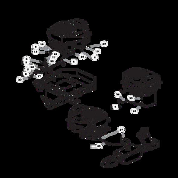 Parts lookup for HUSTLER RAPTOR 938167 - Engine Kohler KT610 (2858)