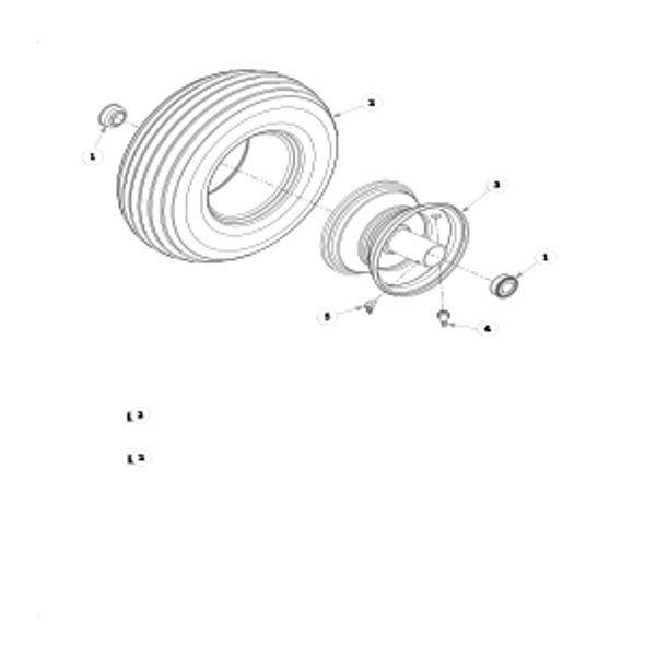 Parts lookup for HUSTLER MINI Z 927525 - Front Wheel Breakdown - 786061