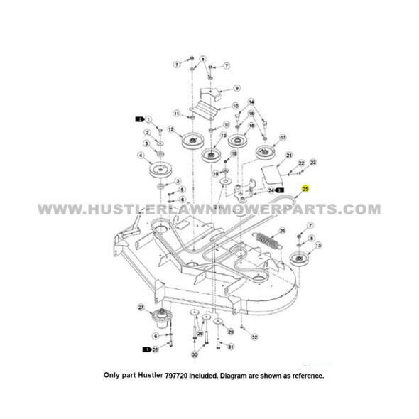 Parts lookup Hustler Super Z Drive Belt 797720 OEM diagram