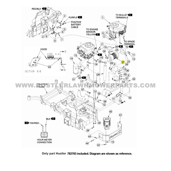 Parts lookup Hustler 782763 Donaldson Air Filter OEM diagram