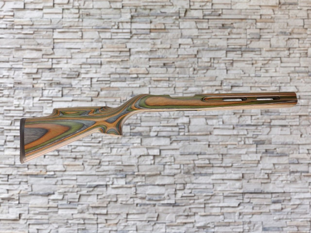 Revolution Vented Trailblazer Bull Channel Wood Stock Camo for Ruger 10/22, T/CR22