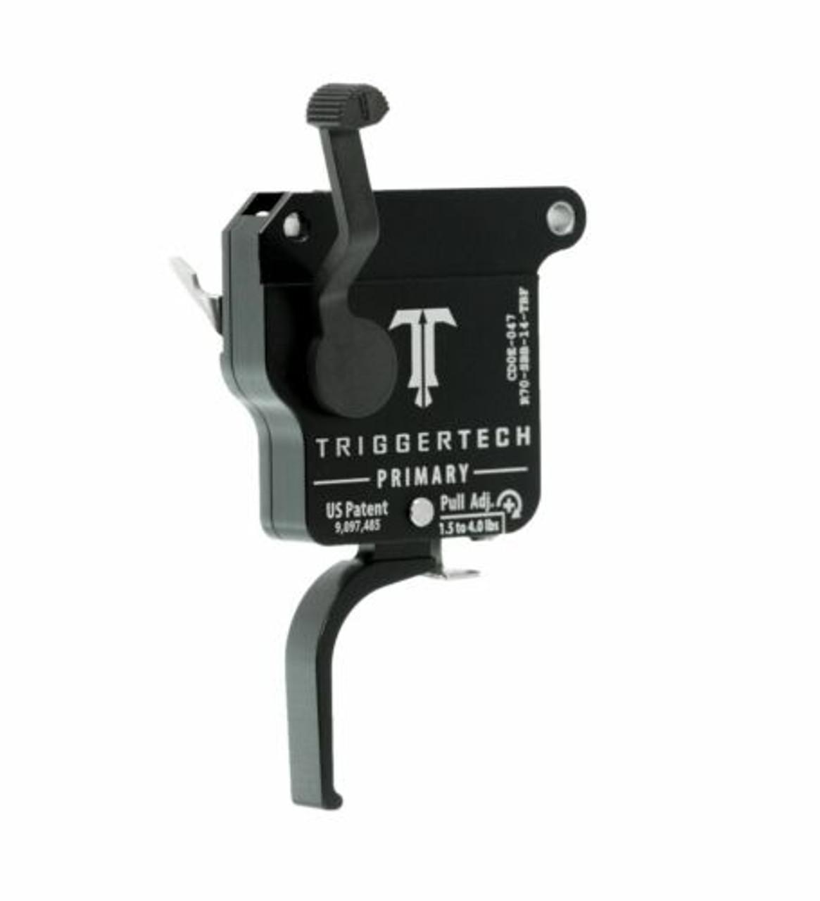 TriggerTech Remington 700 Single Stage Primary Flat, Straight Flat PVD Black Trigger