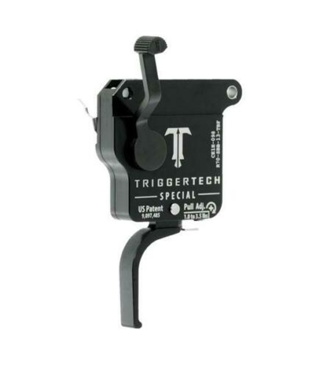 TriggerTech Remington 700 Single Stage Special Flat PVD Black Single Stage Trigger
