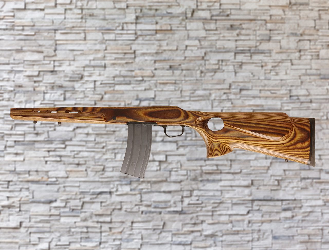 Boyds Featherweight Nutmeg AR Magazine Compatible Stock for Ruger American Rifles