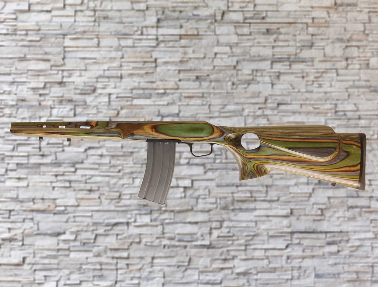 Boyds Featherweight Forest Camo AR Magazine Compatible Stock for Ruger American Rifles