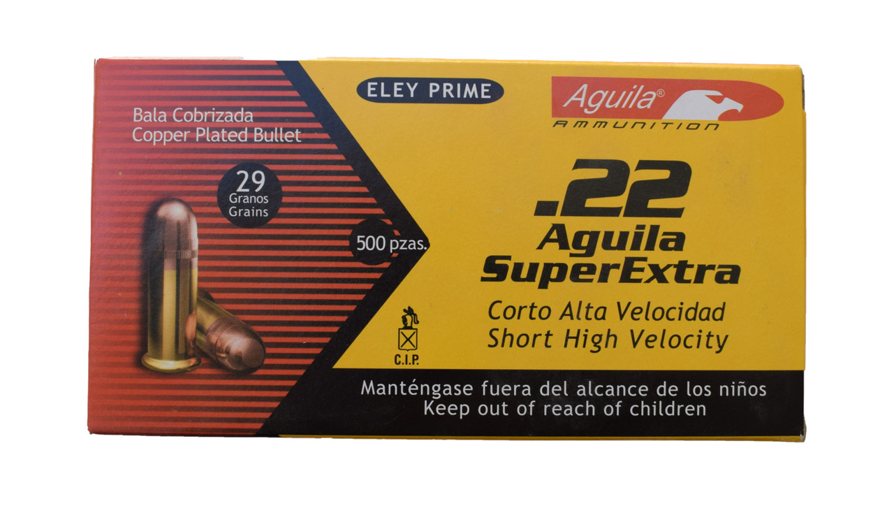 Aguila .22 Short 29 Grain High Velocity Solid Point 500 Rounds