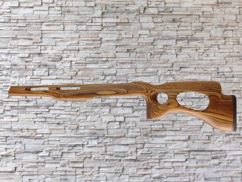 Revolution Yukon Extreme Bull Barrel Wood Stock Brown For Ruger 10/22