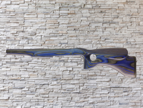 Revolution Yukon Bull Barrel Wood Stock Blue for Ruger 10/22, T/CR22