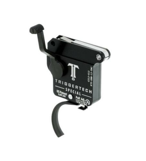 TriggerTech Remington 700 Single Stage Primary Trigger Traditional Curved PVD Black