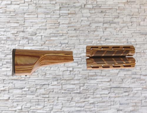 Boyds Nutmeg A2 Wood Stock & Mid-Length Scale Texture Forearm for AR-15 Rifles