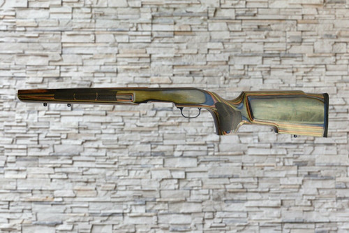 oyds PV Wood Stock Gloss Camo w laser Stippling For Savage B-Mag Tapered Barrel