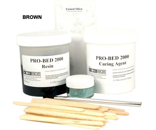 Score High 16 ounce Brown Pro-Bed 2000 Complete Epoxy Bedding System Large Kit