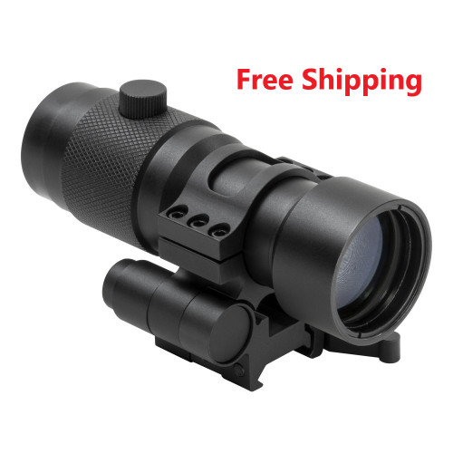 NcStar 3X Red Dot Magnifier w/Flip to Side QR Mount
