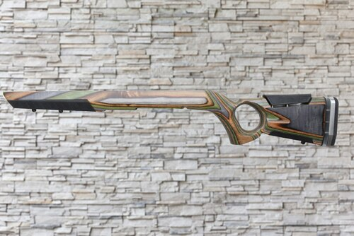 Boyds At-One Thumbhole Forest Camo Wood Stock for Savage A17/A22 WMR Bull Barrel Rifles