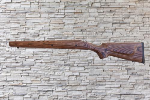 Classic Remington 700 Long Action 1 PC Hinged FP Bull Barrel Channel Stock Nutmeg