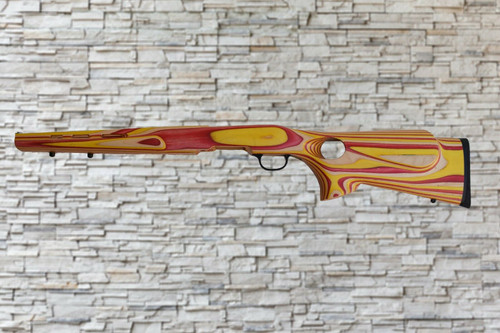 Boyds Featherweight Red, Yellow, Natural Wood Stock for Savage B-Mag Bull Barrel Rifles