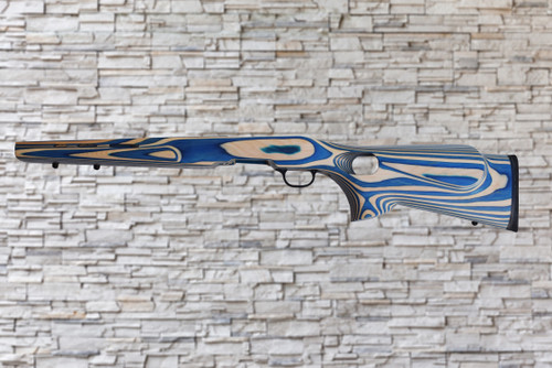 Boyds Featherweight Blue, Natural Wood Stock for Savage B-Mag Bull Barrel Rifles