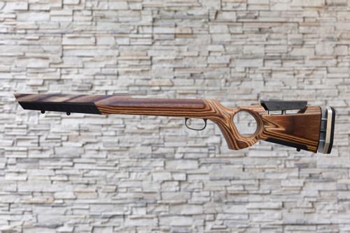 Boyds At-One Thumbhole Nutmeg Stock Savage 64/62 Bull Barrel Rifle