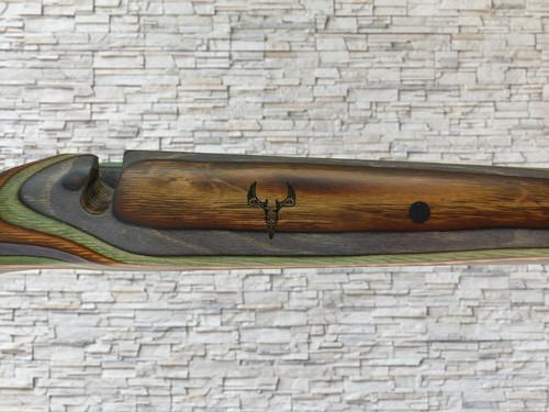 Boyds Heritage Wood Stock Camo w/ Engraved Deer Skull for Kimber 84M SA Rifle