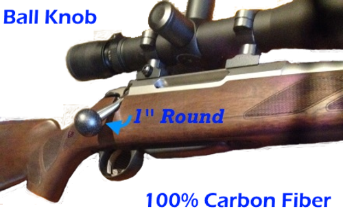 "Lumley 1"" Round Carbon Fiber Rifle Bolt Knob"