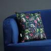 Opulent Velvet Cushion - Welsh Meadow Night