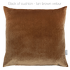 Opulent Velvet Cushion - Kolonne Latte