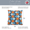 Opulent Velvet Cushion - Dot Drops Grey