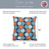 Opulent Velvet Cushion - Dot Drops Orange