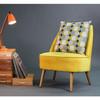 Opulent Velvet Cushion - Dot Drops Mustard