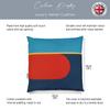 Opulent Velvet Cushion - Red Harmony