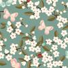 Velvet Seat Pads - Cherry Blossom