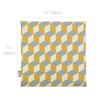Velvet Seat Pads - Cube Mustard