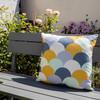 Water Resistant Garden Cushion - Scandi Hills Mustard