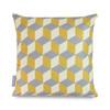 Water Resistant Garden Cushion - Cube Mustard
