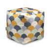 Water Resistant Garden Cube Pouffe - Scandi Hills Mustard