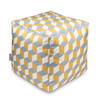 Water Resistant Garden Cube Pouffe - Cube Mustard