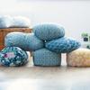 Crescent-Moon Zafu Cushion - Japanese Tile