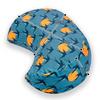 Crescent-Moon Zafu Cushion - Swallows