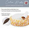 Zafu Traditional Pleated Cushion - Flower Power