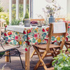 Outdoor Garden Tablecloth AVAILABLE IN 5 SIZES - Optional Centre Hole for Parasol - Midsummer Morning