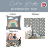Children's Booster Cushions - Bee a Rainbow Grey
