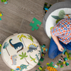 Children's Dinosaur Floor Cushion / Beanbag Seat - Dino Days Cream